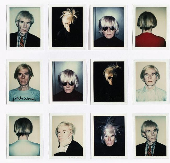 Selfies de Andy Warhol