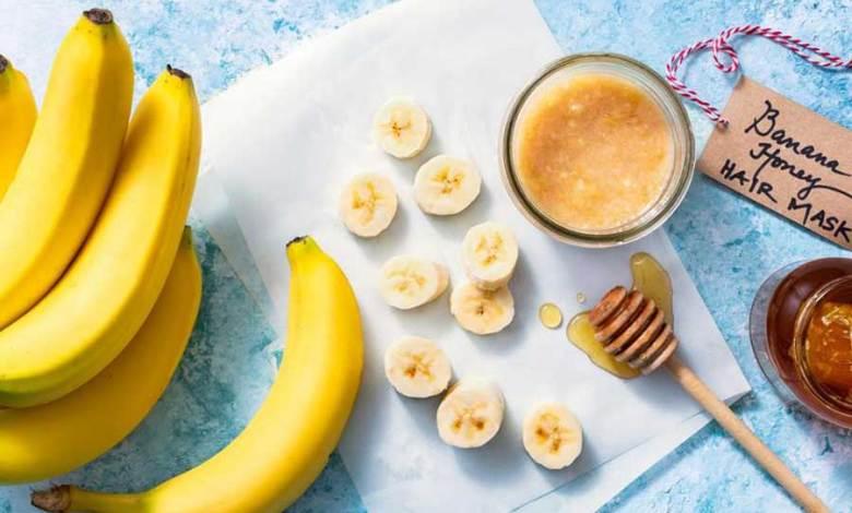 ماسك الموز لتنعيم الشعر