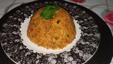 Photo of الأرز باللحم المفروم حجم عائلى كبير