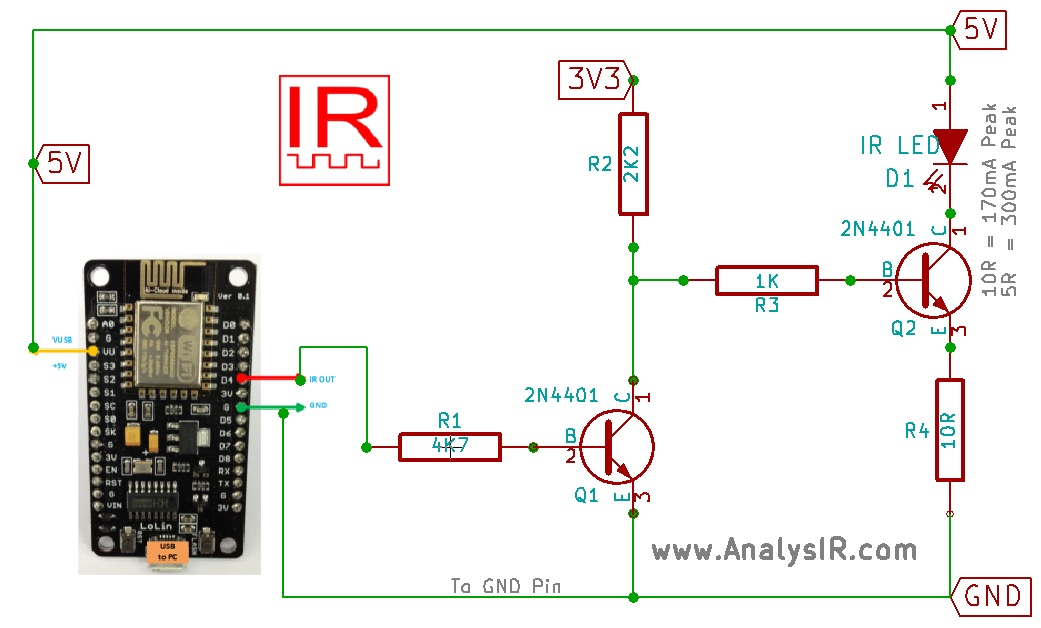 ESP8266 NodeMCU uPWM Inverted IR Circuit?ssl=1 analysir blog all about infrared remote control, ir decoding and more