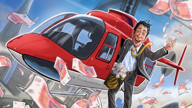 ΕΙΚΟΝΑ - γενικη, χρήμα, κεντρικές τράπεζες, ελικόπτερο Η λύση των δωρεάν χρημάτων