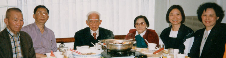 A Chinese banquet with dad, late grandpa and grannie