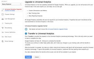Universal Analytics Tool di migrazione