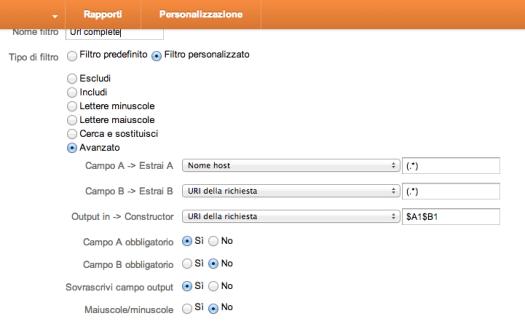 Google Analytics Filtro Url Complete