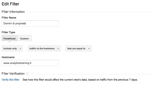 filtri domini di proprietà