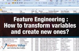 Feature Engineering: How to transform variables and create new ones?