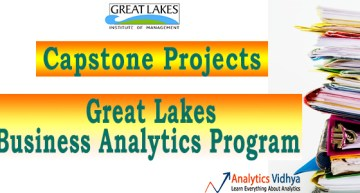 Capstone Projects – Great Lakes Business Analytics Program