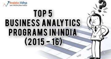 Top Business Analytics Programs in India (2015 – 16)