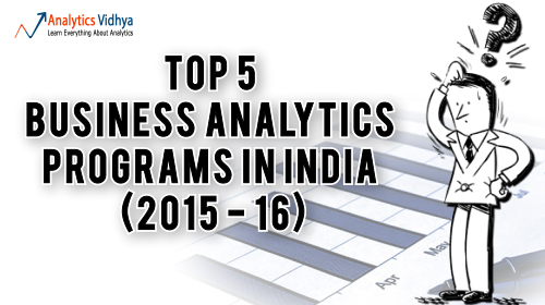 business analytics programs in india ranking