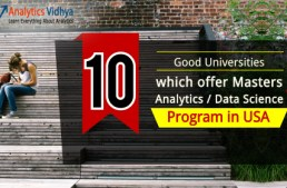10 Analytics / Data Science Masters Program by Top Universities in the US