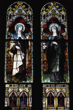 Ss. Teresa of Avila and Brigid of Kildare, St. Joseph's Catholic Church, Macon, GA. Saint Teresa and Saint Brigid were two great contemplatives who were also engaged in making the world a better place.