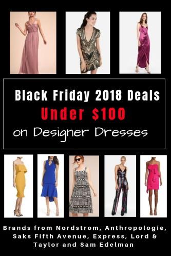Black Friday 2018 Deals Under $100 On Designer Dresses