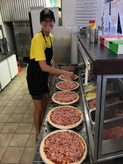 "To make some cash, ieva worked in the afternoons as a ""pizza chef"" at the pizzeria in town, 20km away."