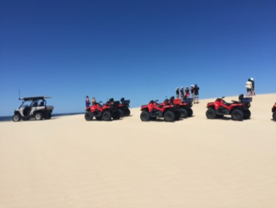 The family runs quad bike tours for tourists in the dunes. We did the tour once, and Cesar helped running the tour several times after that.