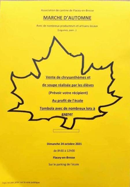 Marché d'automne de Flacey en Bresse