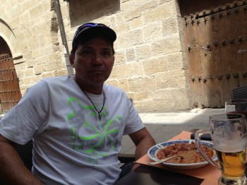 Almoçando em Viana...