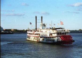 Barcos a vapor no Mississipi (fonte)