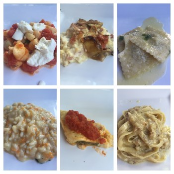 """Menu degustação no restaurante """"Festival della Pasta"""""""