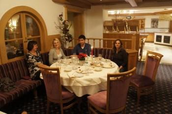Parte da família em um dos jantares...