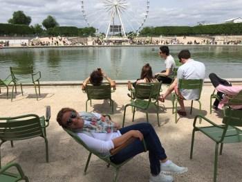 Já no finalzinho dos Jardins de Tuileries...