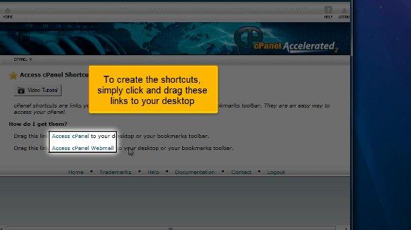 cPanel add shortcuts