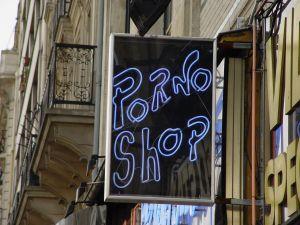 XXX shop sign