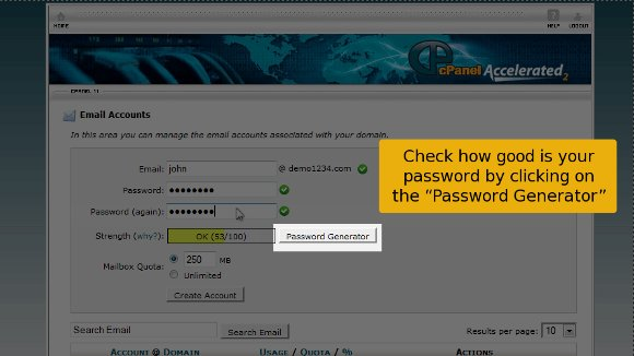 Cpanel Password ganerator