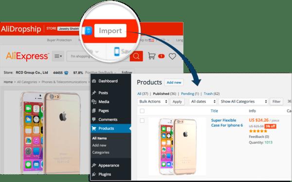 Step 2 - Ali Dropship WordPress Plugin