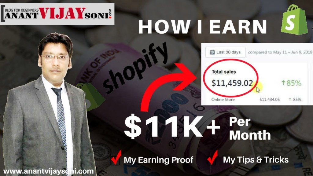 How to Earn $11000 Per Month from Shopify (with proof)