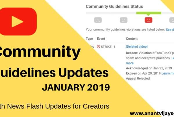 New YouTube Community Guidelines Updates - Jan 2019 2
