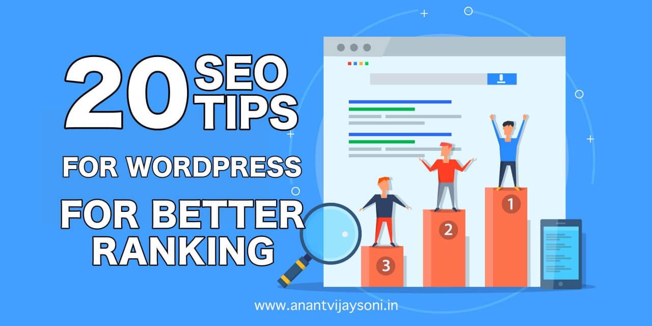 Ultimate 20 SEO Tips for WordPress for Better Ranking