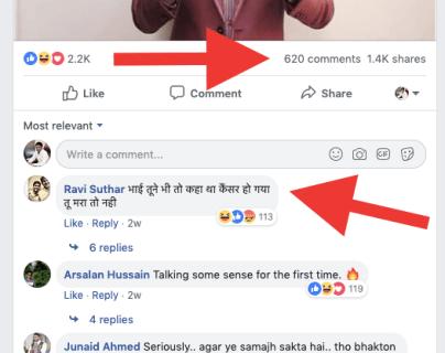 Negativity on Facebook