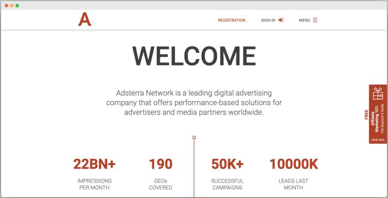 Adsterra Ad network - Best Google adsense alternative