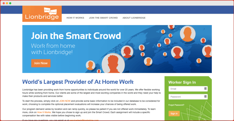 Smart Crowd Lionbridge - Captcha Entry Jobs in India