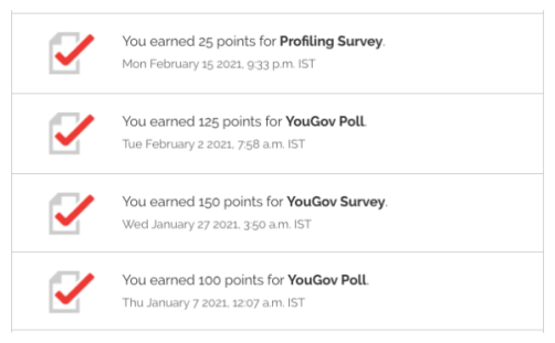 YouGov India Payment Proof