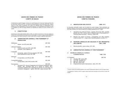 Répertoire numérique détaillé, Fonds de la Croix-Rouge française, Délégation départementale de Maine-et-Loire et Délégation d'Angers par l'auteure