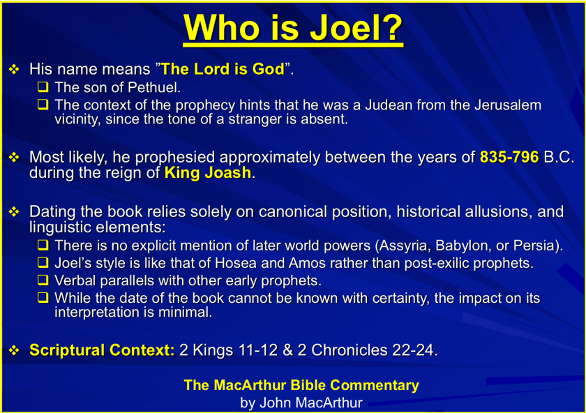 Joel: The Day of the Lord – An Approved Workman