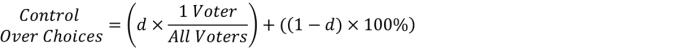 (??????? ???? ?ℎ?????)=100%−?×(1−(1 ?????)/(??? ??????))