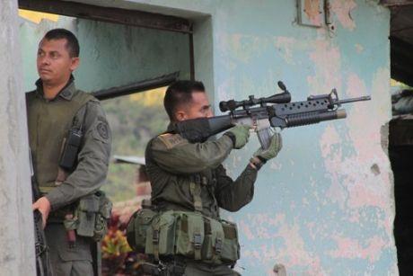 La población de Toribío, Escudo Humano del Ejército (Combates 7 de Julio)