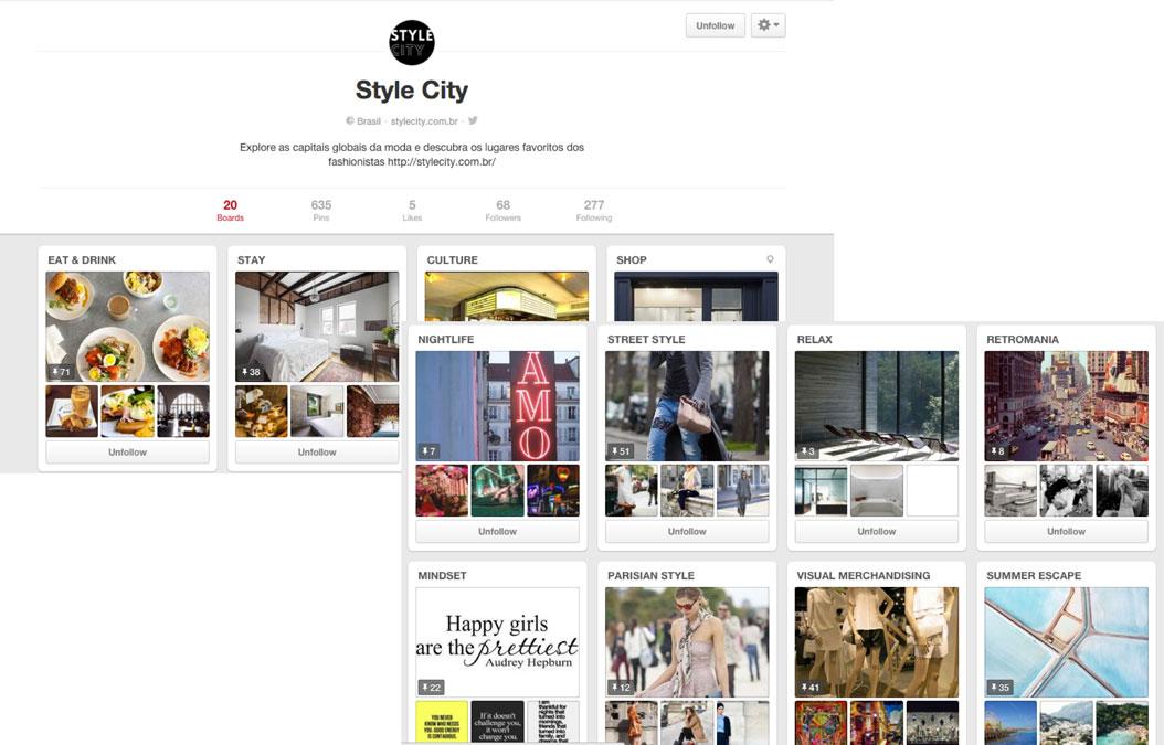 Development of story boards on Pinterest stylecitybr