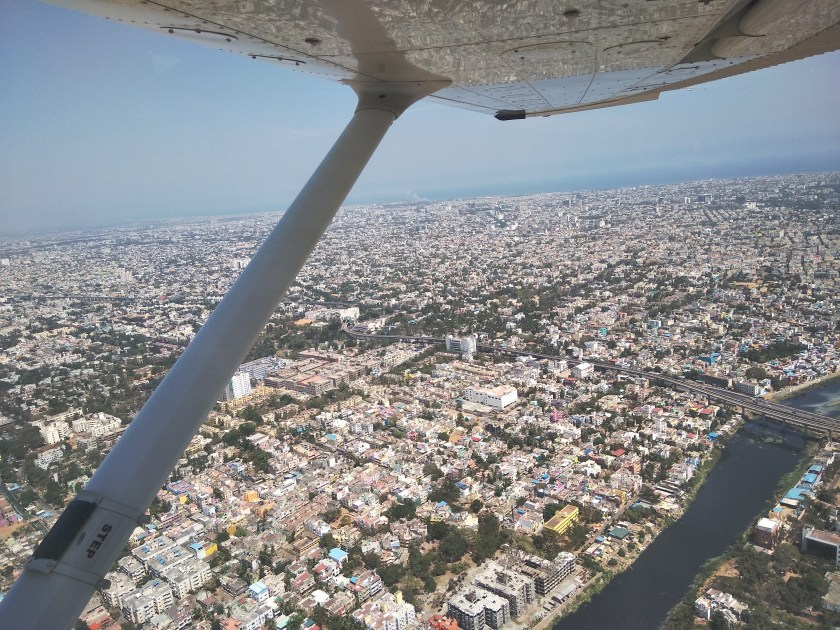 cessna flight ride - joyride over chennai