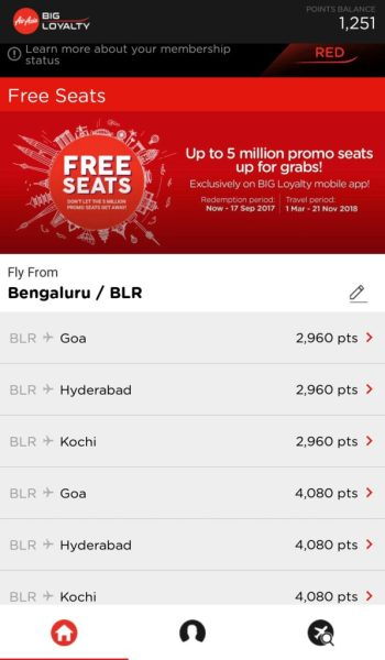 Air Asia frequent flyer programme