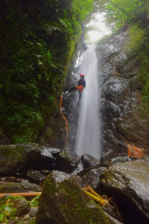 top South American adventure tours Canyoning