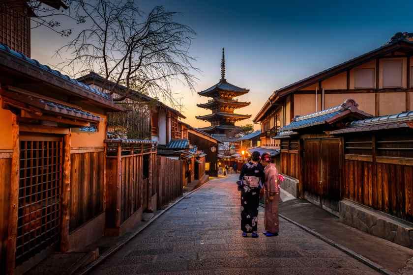 top 5 asian destinations Kyoto Japan Tourism