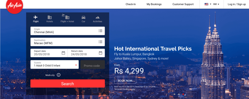 AirAsia Top Travel Apps 2018
