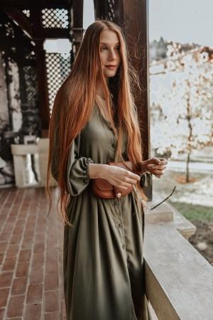 Shein Khaki Maxi dress