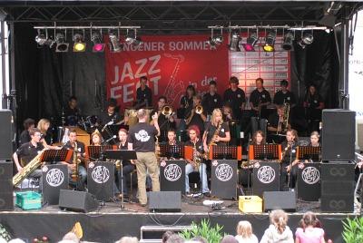 Die KGT-Jazz-Band spielt am Tiengener Sommer