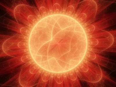 Sonne, selbstgebaut mit apophysischer Fraktalalgebra.