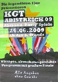 Das Plakat zum Abistreich 2009