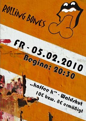 Rolling Bones Plakat 2010